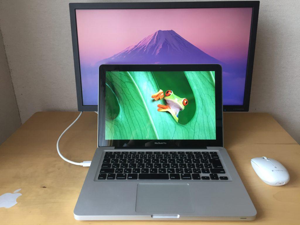 ノートパソコンと液晶モニターその1